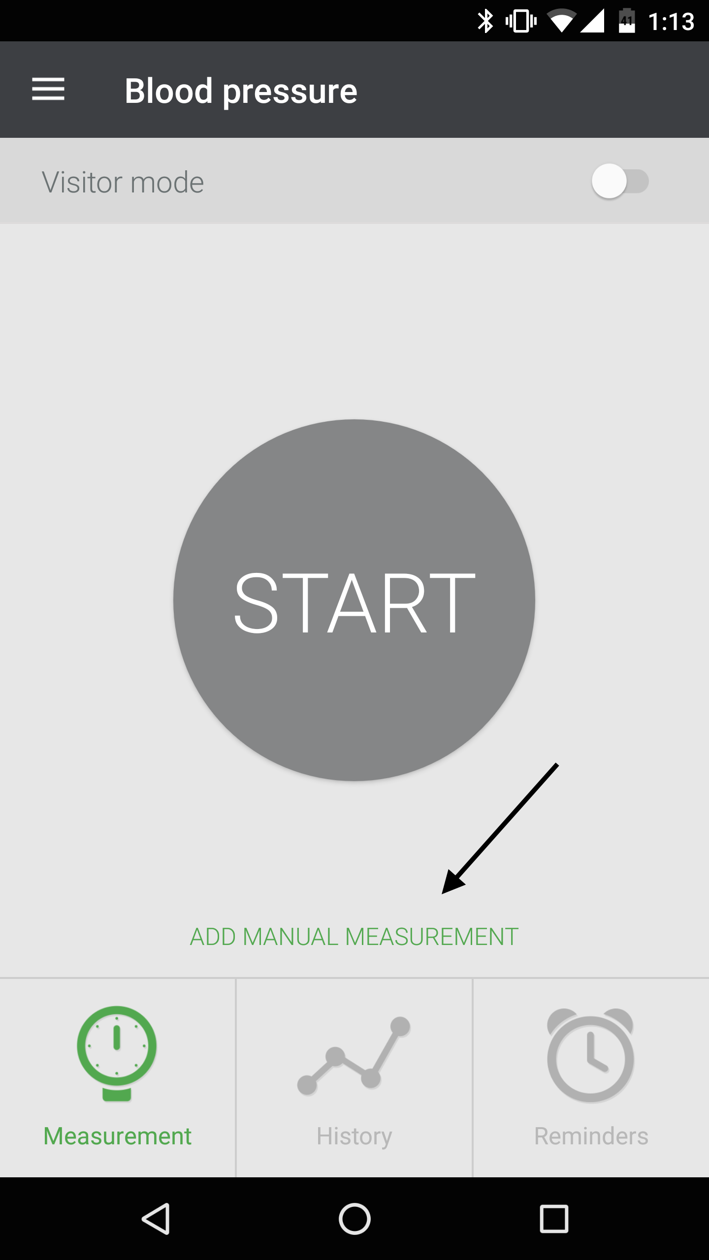 Adding Manual BP Measurements on Qardio App for Android